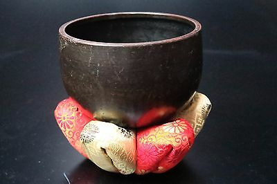 "Free shipping Japanese Buddhist bell 12.5cm/5"" Copper Rin good sound Japan"