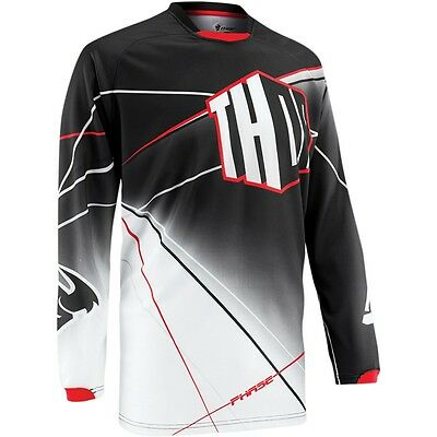 Thor Phase S5 Prism Motocross Offroad Mx Jersey Black Size Large