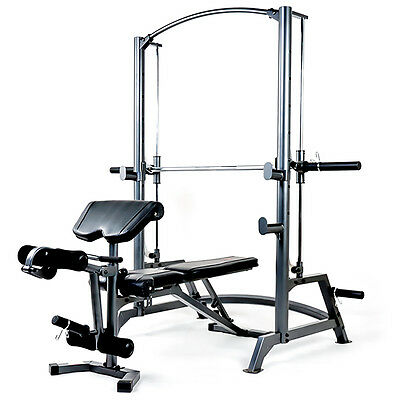 Marcy SM1050 Diamond Elite Smith Machine Home Gym Squat Rack Cage & Weight Bench