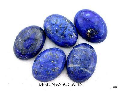 Lapis 12X10 Mm Oval Cut All Natural Blue Gemstone 1 Pc Set For $1.69 Cab