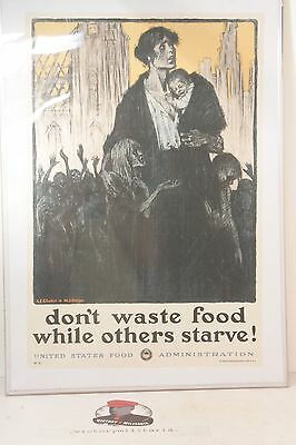 "WWI ""Don't Waste Food..."" Propaganda Poster 30x20"""