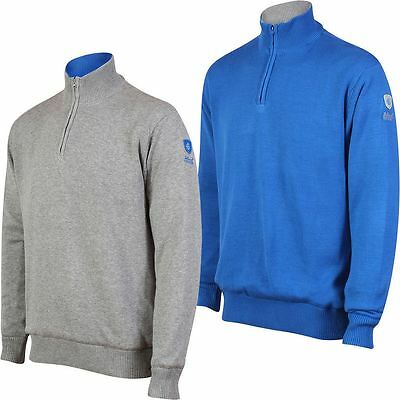 2017 Island Green Windproof 1/4 Zip Thermal Sweater Mens Golf Pullover-LINED