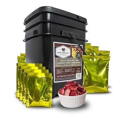 Wise Freeze-Dried Fruit & Snacks – 120 Servings -Long-term Survival Food, Preper