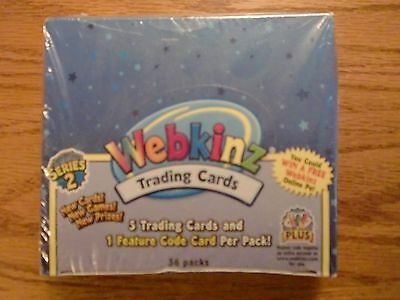 Webkinz Trading Cards Series 2, sealed box of 36 packs