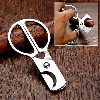 Pocket Stainless Steel Double Blades Tobacco Cigar Cutter Knife Tool Scissors