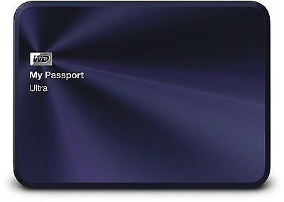 "WD MyPassport Ultra Metal Edition externe Festplatte 1TB 2,5"" USB 3.0 Black-Blue"