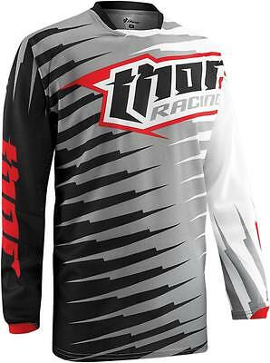 Thor Phase S5 Rift Vented Motocross Offroad Mx Jersey Gray Size Large