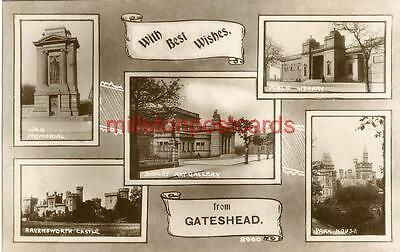 Real Photographic Multiview Postcard Of Gateshead, County Durham By Johnston