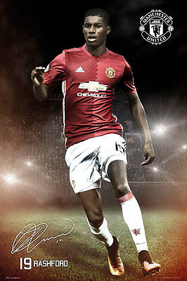 Manchester United FC Poster - Rashford 16/17 - New Football poster SP1411