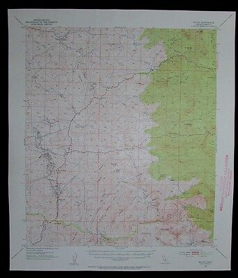 Woody California vintage 1953 old USGS Topo chart