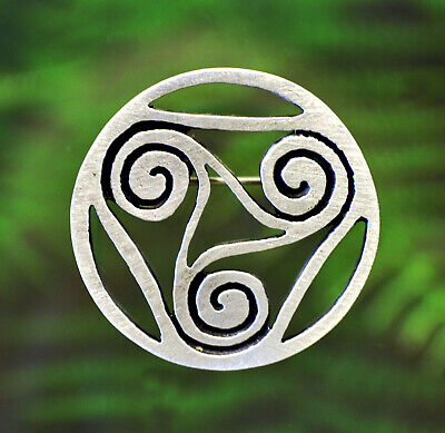 Celtic Spiral Pin   Celtic Symbols in Fine Pewter by Treasure Cast   Made in USA