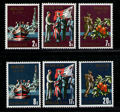 MALTA 1979 MNH SC.552/557 End of military agreement with GB