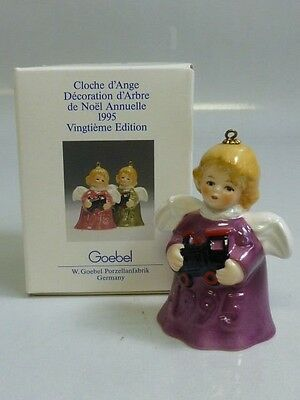 Goebel 1995 Annual Angel Bell Christmas Ornament Purple