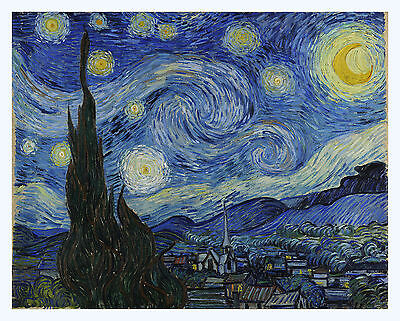 20x24 Starry Night by Vincent Van Gogh Giclee Fine Art Print superior to canvas