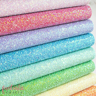 Chunky Glitter Fabric SHEETS - A4 or A5 size - Premium Quality For Crafts & Bows