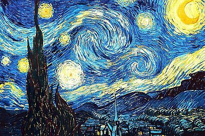 VAN GOGH VINCENT THE STARRY NIGHT Canvas Box or Poster Print Wall Art