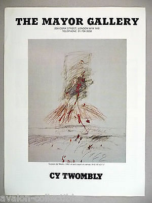 Cy Twombly Art Gallery Exhibit PRINT AD - 1986
