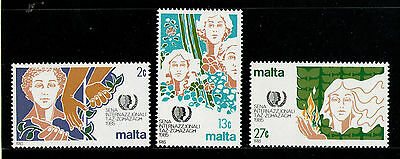 MALTA 1985 MNH SC.657/659 Int.Youth Year