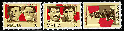MALTA 1985 MNH SC.662/664 June 7 Uprising 66th