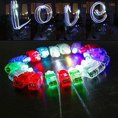 100 Pieces LED Finger Light up Ring Party Favor Supplies Luminous Toys
