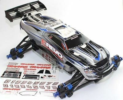 Traxxas 1/10 E-Revo Roller / Rolling Chassis w/ Silver Painted Body & Decal Shee