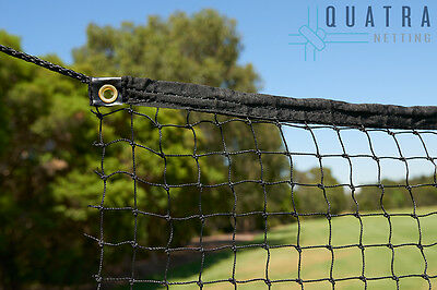 Ball Stop net: Sports Barrier Netting  3m x 25m with Tie Rope & Edging