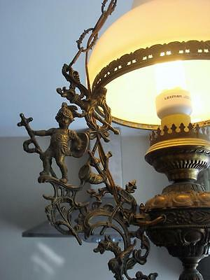 French Actress Estate - Antique RARE Figural PARLOR Hanging Lamp Chandelier