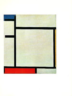 """1970 Vintage MONDRIAN /""""VICTORY BOOGIE WOOGIE/"""" MODERN COLOR offset Lithograph"""