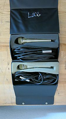 Lanier Omni-Directional Microphone 500-Pair of 2 with Cords and Cases