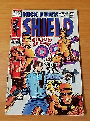 Nick Fury, Agent of SHIELD #12 ~ VERY GOOD VG ~ (1969, Marvel Comics)