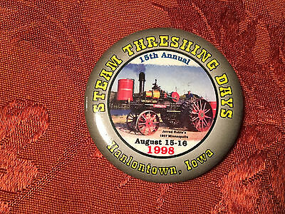 HANLONTOWN IOWA Steam Threshing Days 1998 BUTTON 1907 MINNEAPOLIS STEAM ENGINE
