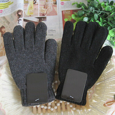 Autumn & Winter Men's Knitted Gloves Male Thicken Thermal Wool Gloves Mittens
