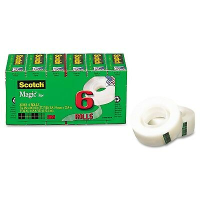 Scotch Magic Tape 3/4 x 1000 Inches Boxed 6 Rolls (810K6) Standard Packaging