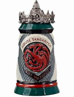 Game Of Thrones: Stein – House Targaryen Pewter Top New In Box