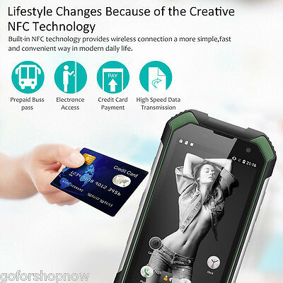 4G Android 6.0 Quad Core 2GB+16GB 8MP Smartphone Móvil Blackview BV6000S Verde