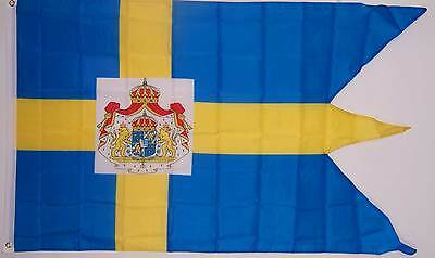 SWEDEN ROYAL STANDARD SWEDISH SWALLOW TAIL FLAG  NEW 3x5 ft