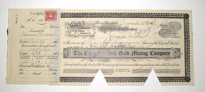 Columbia, California ~ COLUMBIA HILL GOLD MINING CO. ~ stock certificate (1918)