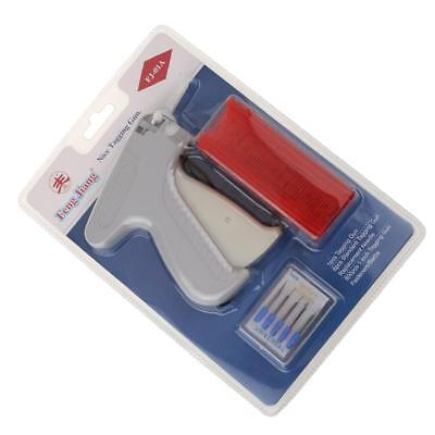 Garment Clothes Price Label Tagging Tag Gun+6 Tagging Needle+800 Barb Red