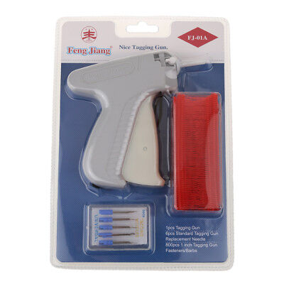 Clothes Garment Price Label Tagging Gun+6 Tagging Needles+800 Barbs Red