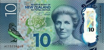 2016 New Zealad 10 Dollars banknote UNC - AC Series - First Issue