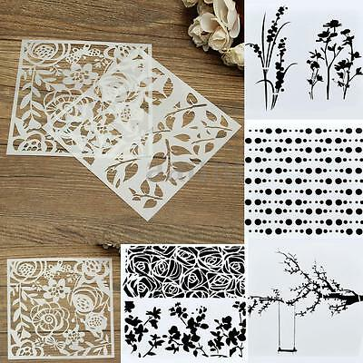 Masking DIY Designs Airbrush Wall Decor Drawing Template Stencils Spray Painted