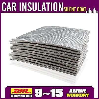 10 SHEETS 10cm*50cm 5.38sq.ft. Car Vehicle Sound Deadening Insulation Proofing
