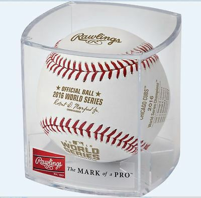 2016 World Series Chicago Cubs Champions Baseball W/ Cubed Display Rawlings
