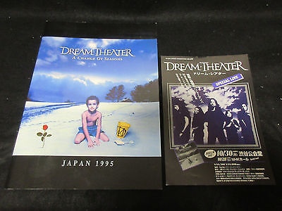 Dream Theater Change of Seasons October 1995 Japan Tour Book w Flyer Petrucci