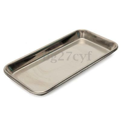 1-10pcs Dental Surgical Stainless Steel Tray Dish Lab Instrument Tool 22x12x2cm