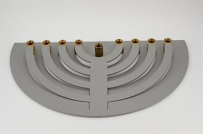 Contemporary Aluminum Hanukkah Lamp Menorah Judaica  No HM-!  by YAAKOV Greenvur