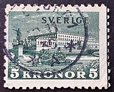 Sweden 1931 Sc # 229 Royal Palace FU HH Used 5k Stamp CV US $12.50