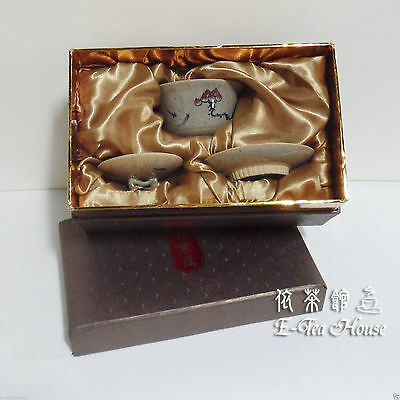 Excellent Aisan Pottery Gaiwan - Hand Paint Flower & Fish Gaiwan with Gift Box