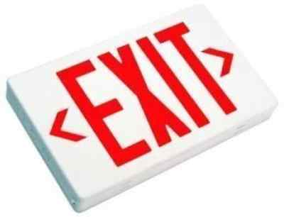 Dysmio Lighting LED Exit Sign with Battery Backup - Red Letters