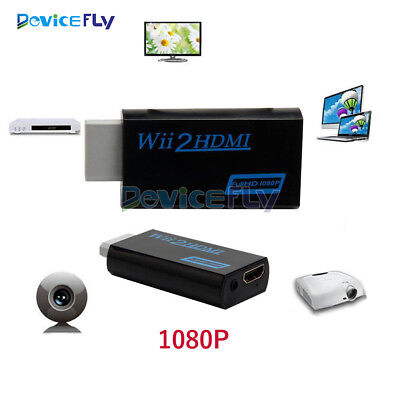 Wii To HDMI 1080P Upscaling Converter Adapter 3.5mm Audio Video Output